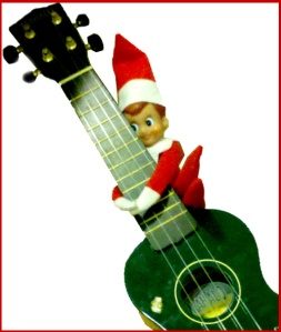 Elf plays ukulele