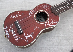 Ukulele Orchestra of Great Britain signatures on Ohana sopranino ukulele